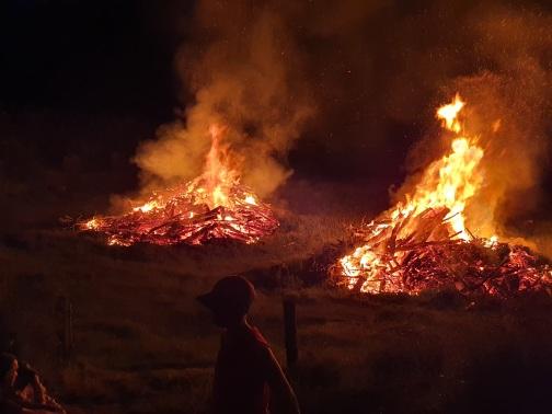 Once the bonfires got going