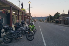 Outside the Broadway Tearooms in Reefton